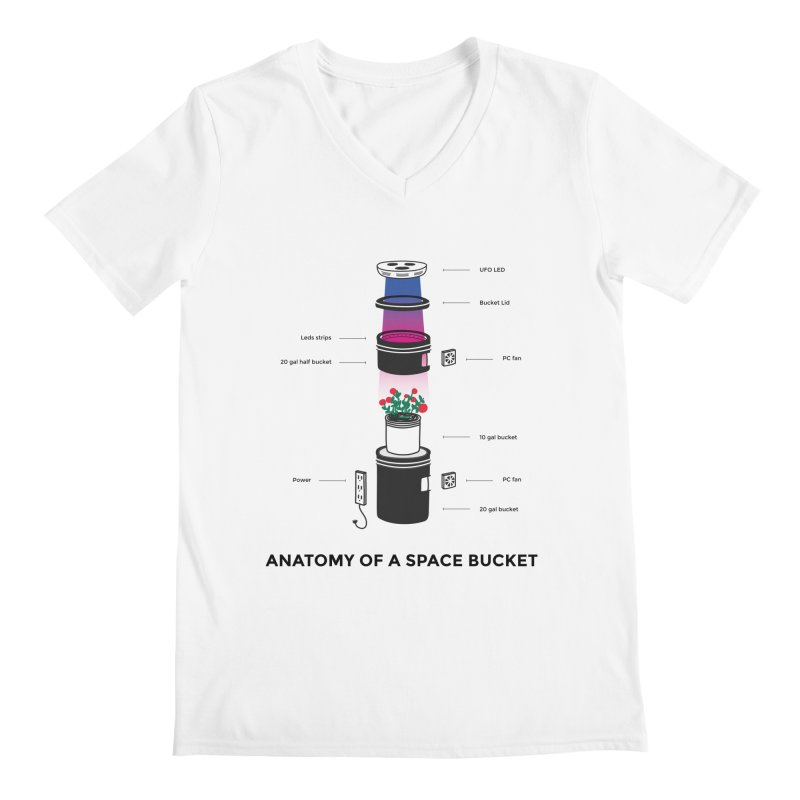 Anatomy of a Space Bucket Men's V-Neck by spacebuckets's Artist Shop