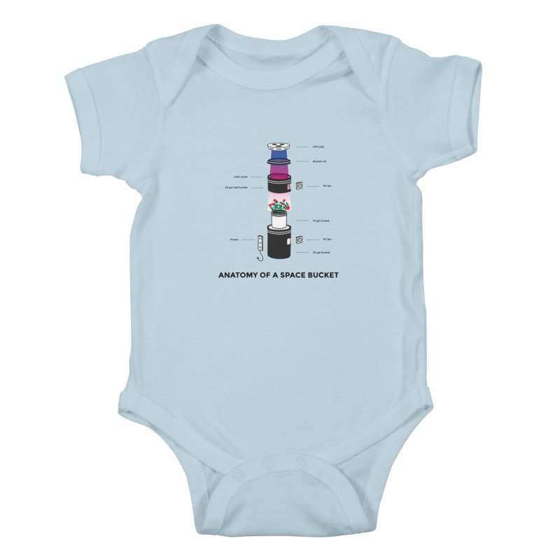 Anatomy of a Space Bucket Kids Baby Bodysuit by spacebuckets's Artist Shop