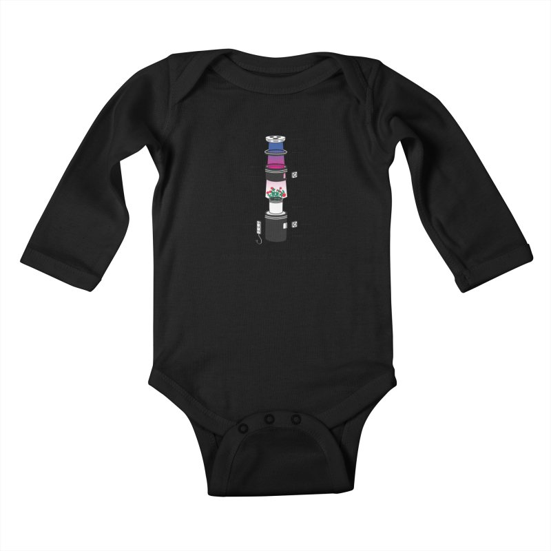 Anatomy of a Space Bucket Kids Baby Longsleeve Bodysuit by spacebuckets's Artist Shop