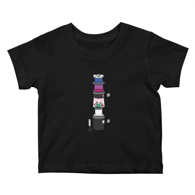 Anatomy of a Space Bucket Kids Baby T-Shirt by spacebuckets's Artist Shop