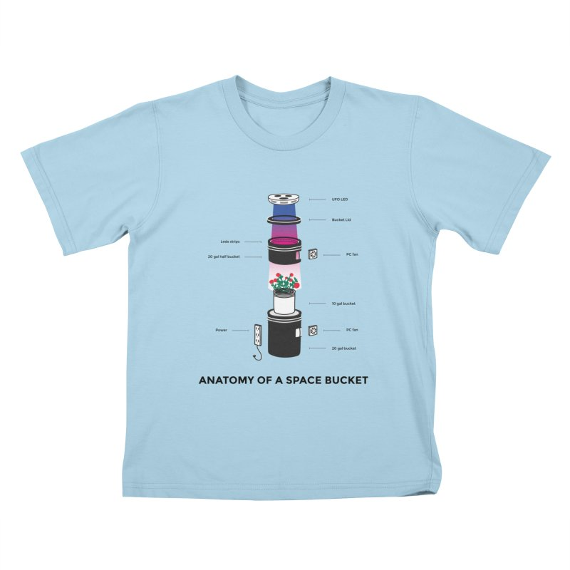 Anatomy of a Space Bucket Kids T-Shirt by spacebuckets's Artist Shop