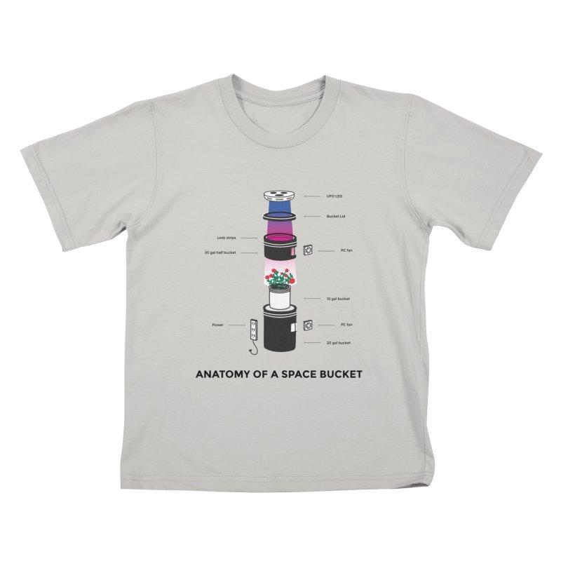Anatomy of a Space Bucket Kids T-shirt by spacebuckets's Artist Shop