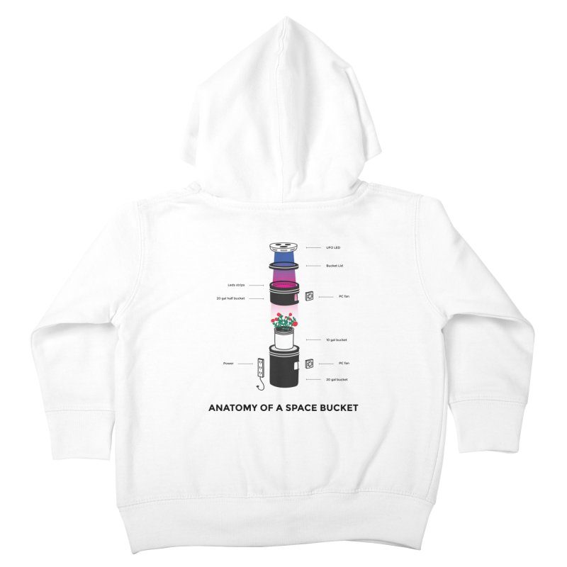 Anatomy of a Space Bucket Kids Toddler Zip-Up Hoody by spacebuckets's Artist Shop