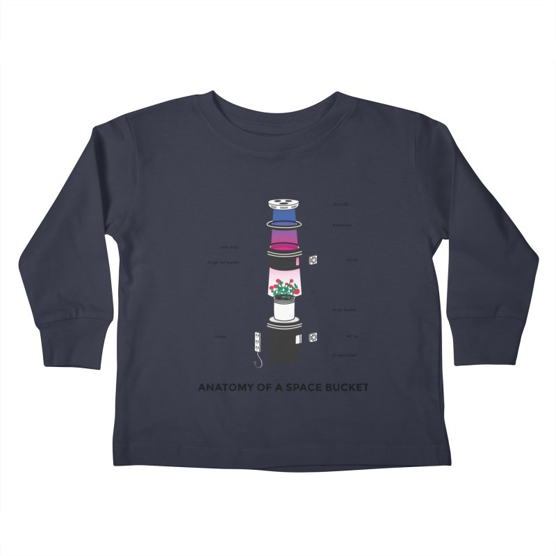 Anatomy of a Space Bucket Kids Toddler Longsleeve T-Shirt by spacebuckets's Artist Shop