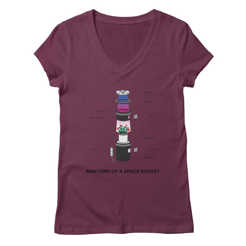 Anatomy of a Space Bucket Women's V-Neck by spacebuckets's Artist Shop