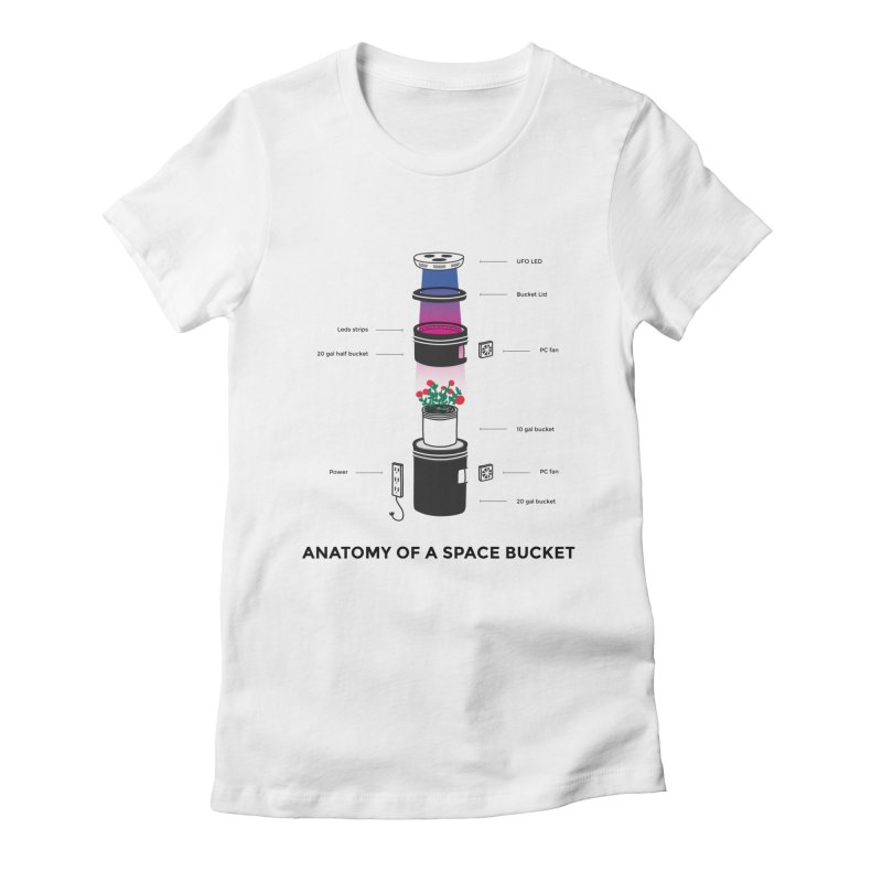 Anatomy of a Space Bucket Women's Fitted T-Shirt by spacebuckets's Artist Shop