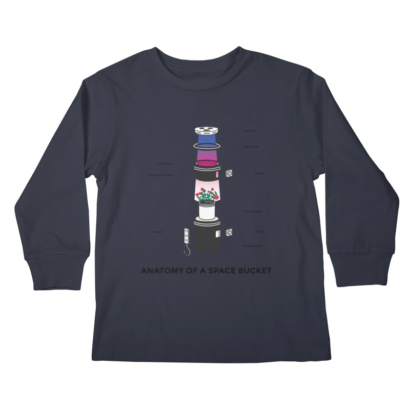 Anatomy of a Space Bucket Kids Longsleeve T-Shirt by spacebuckets's Artist Shop