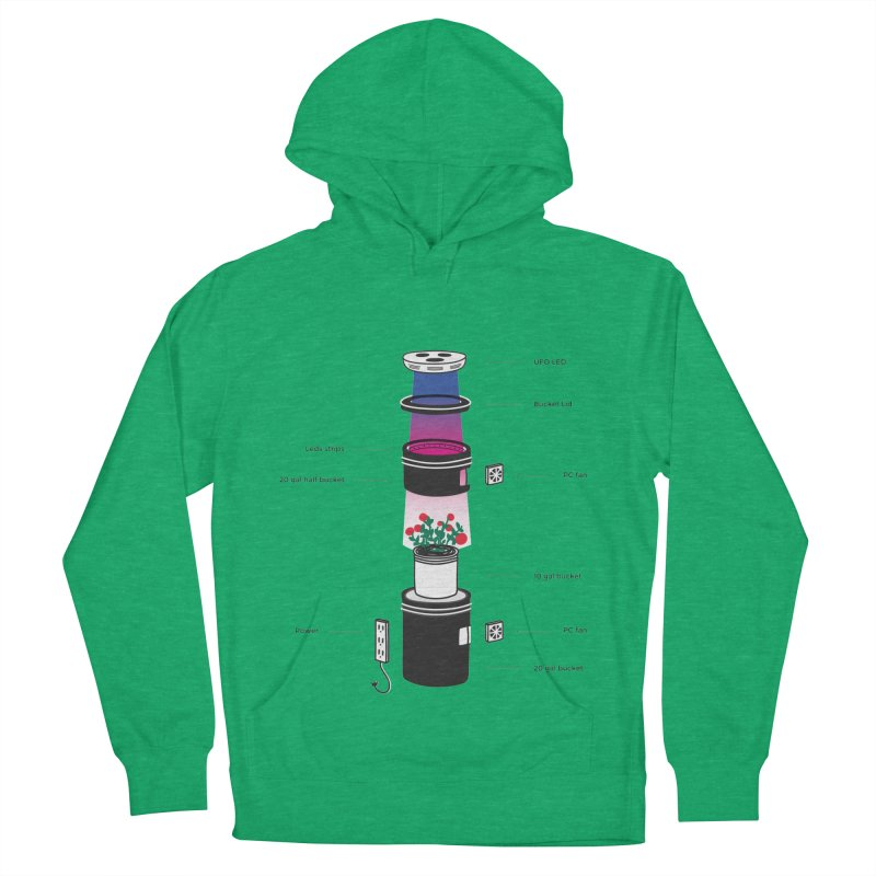 Anatomy of a Space Bucket - no title Men's French Terry Pullover Hoody by spacebuckets's Artist Shop