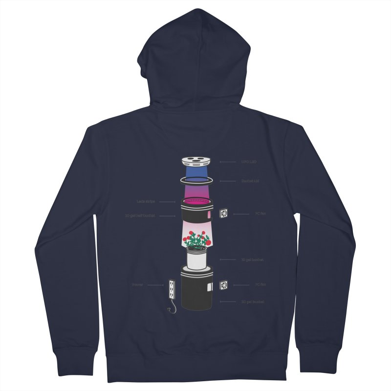 Anatomy of a Space Bucket - no title Women's French Terry Zip-Up Hoody by spacebuckets's Artist Shop