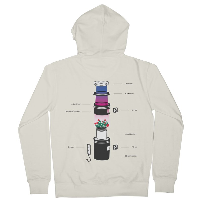 Anatomy of a Space Bucket - no title Men's French Terry Zip-Up Hoody by spacebuckets's Artist Shop