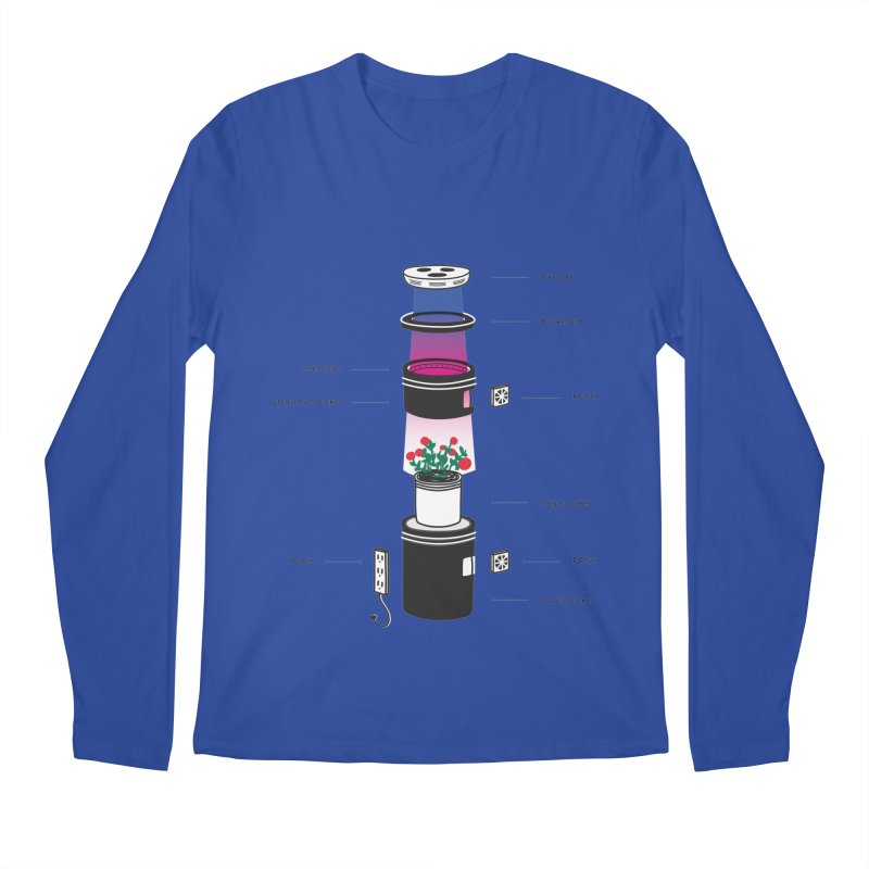Anatomy of a Space Bucket - no title Men's Regular Longsleeve T-Shirt by spacebuckets's Artist Shop