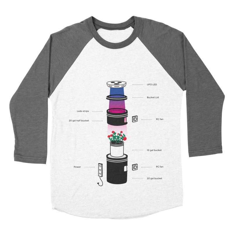 Anatomy of a Space Bucket - no title Men's Baseball Triblend Longsleeve T-Shirt by spacebuckets's Artist Shop