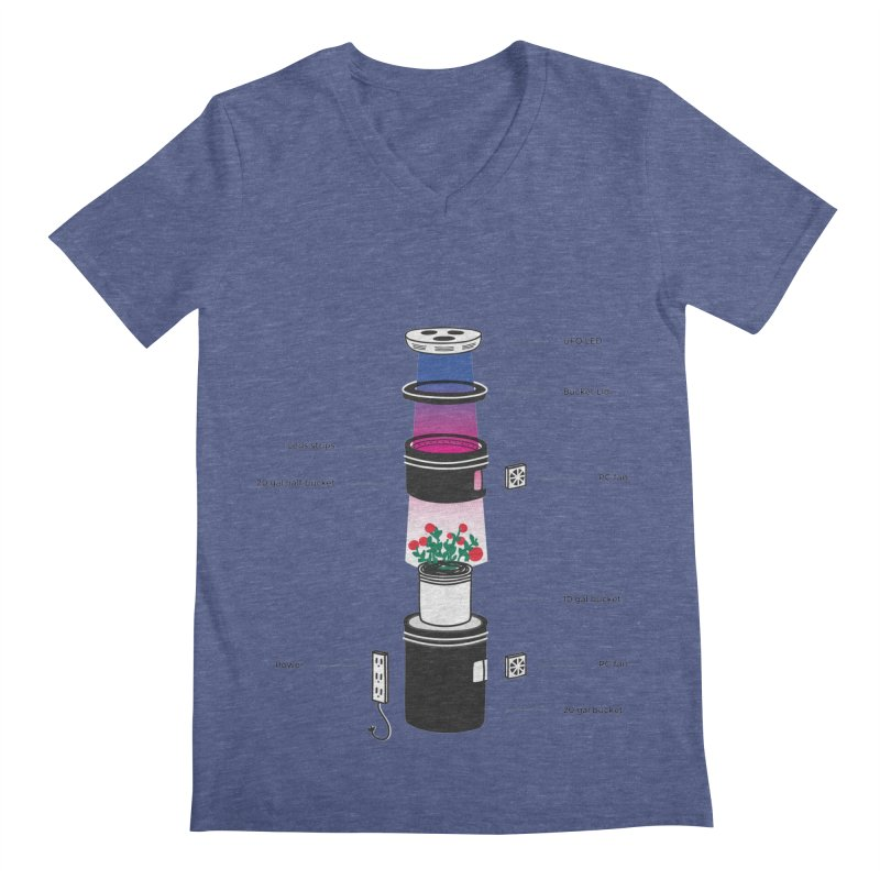 Anatomy of a Space Bucket - no title Men's V-Neck by spacebuckets's Artist Shop