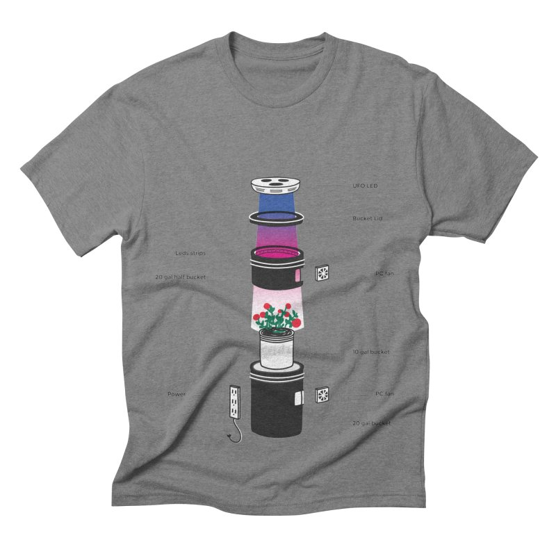 Anatomy of a Space Bucket - no title Men's Triblend T-shirt by spacebuckets's Artist Shop