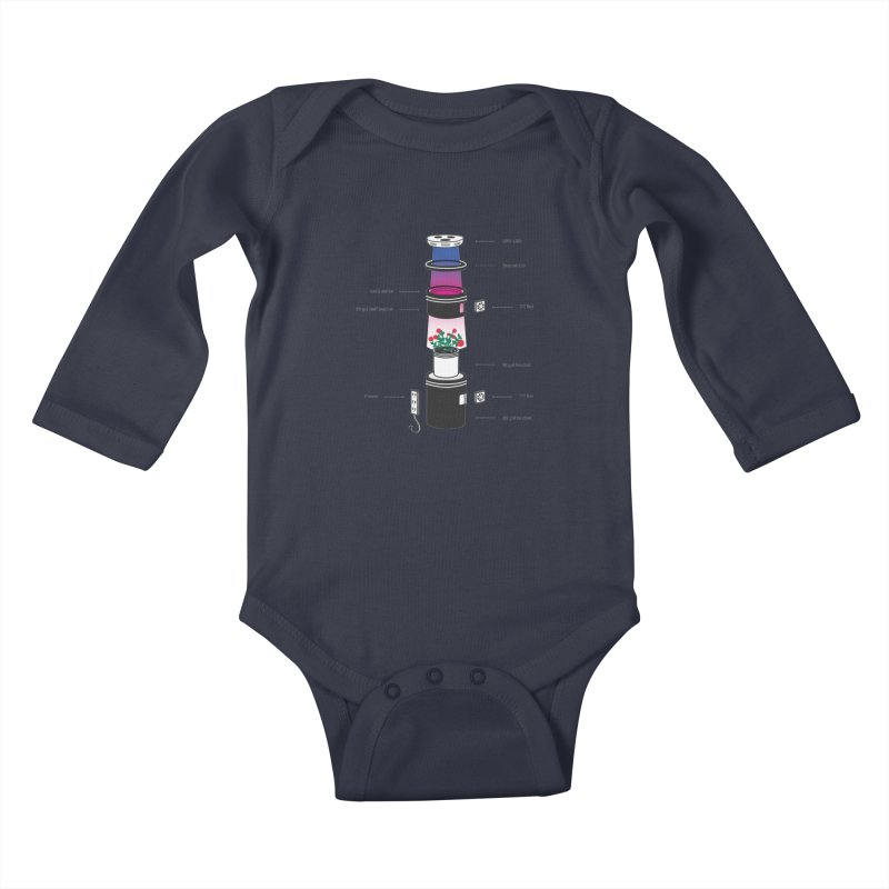 Anatomy of a Space Bucket - no title Kids Baby Longsleeve Bodysuit by spacebuckets's Artist Shop