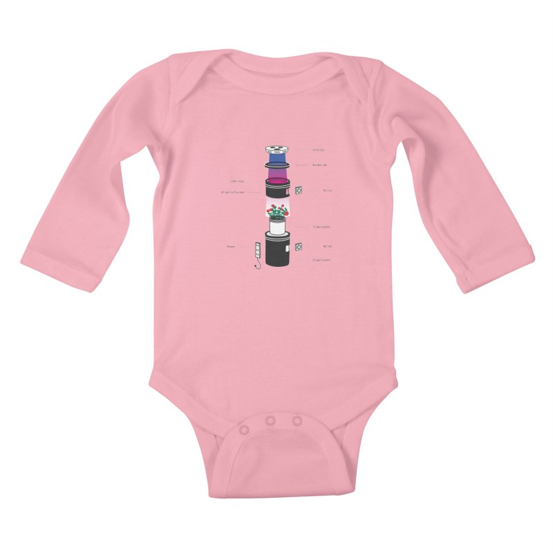 Anatomy of a Space Bucket - no title Kids Baby Longsleeve Bodysuit by spacebuckets's Artist Shop