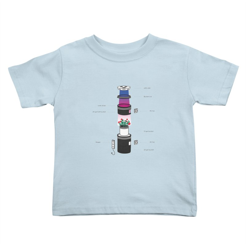 Anatomy of a Space Bucket - no title Kids Toddler T-Shirt by spacebuckets's Artist Shop