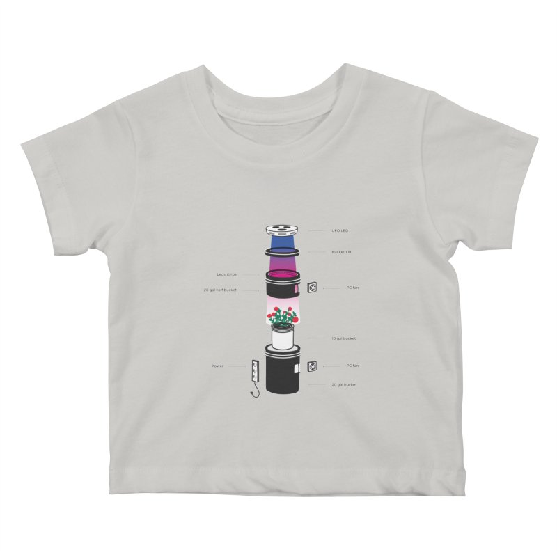 Anatomy of a Space Bucket - no title Kids Baby T-Shirt by spacebuckets's Artist Shop