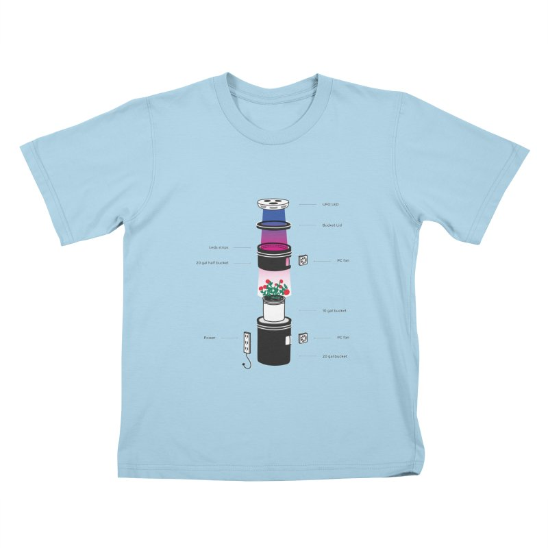 Anatomy of a Space Bucket - no title Kids T-Shirt by spacebuckets's Artist Shop