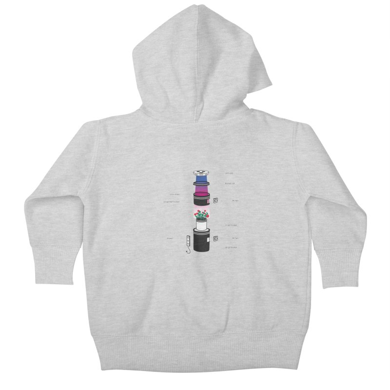 Anatomy of a Space Bucket - no title Kids Baby Zip-Up Hoody by spacebuckets's Artist Shop