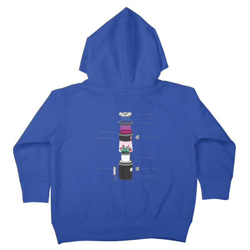 Anatomy of a Space Bucket - no title Kids Toddler Zip-Up Hoody by spacebuckets's Artist Shop