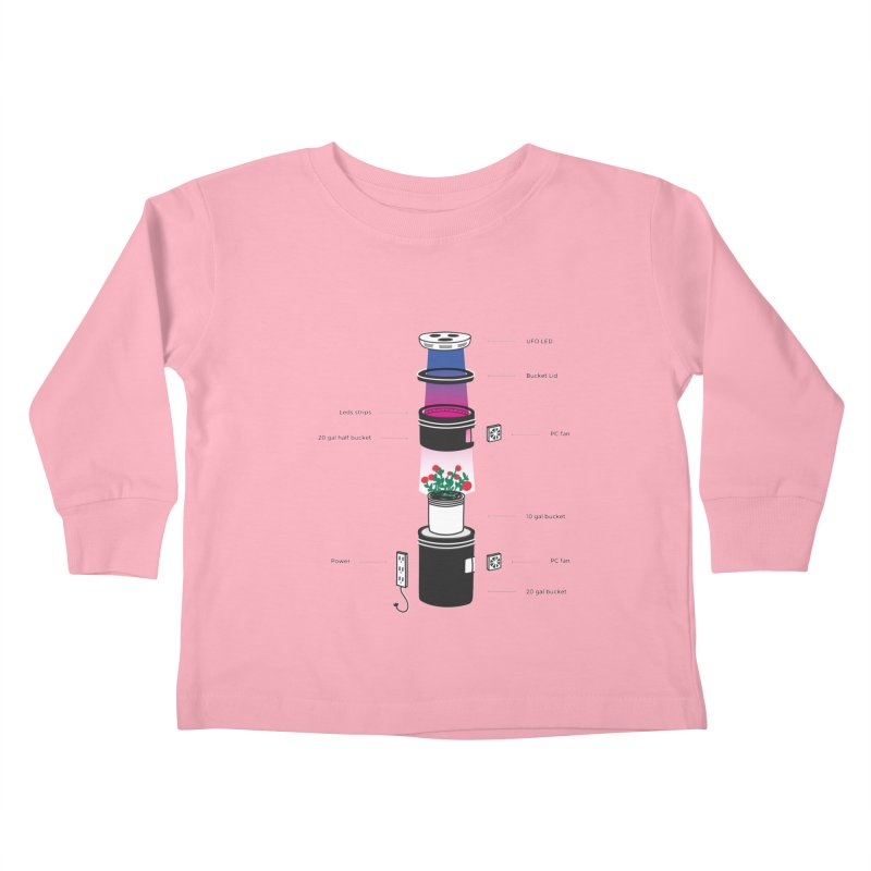 Anatomy of a Space Bucket - no title Kids Toddler Longsleeve T-Shirt by spacebuckets's Artist Shop
