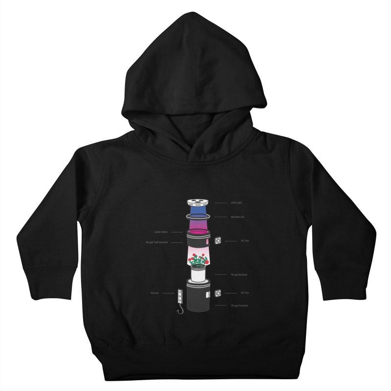 Anatomy of a Space Bucket - no title Kids Toddler Pullover Hoody by spacebuckets's Artist Shop