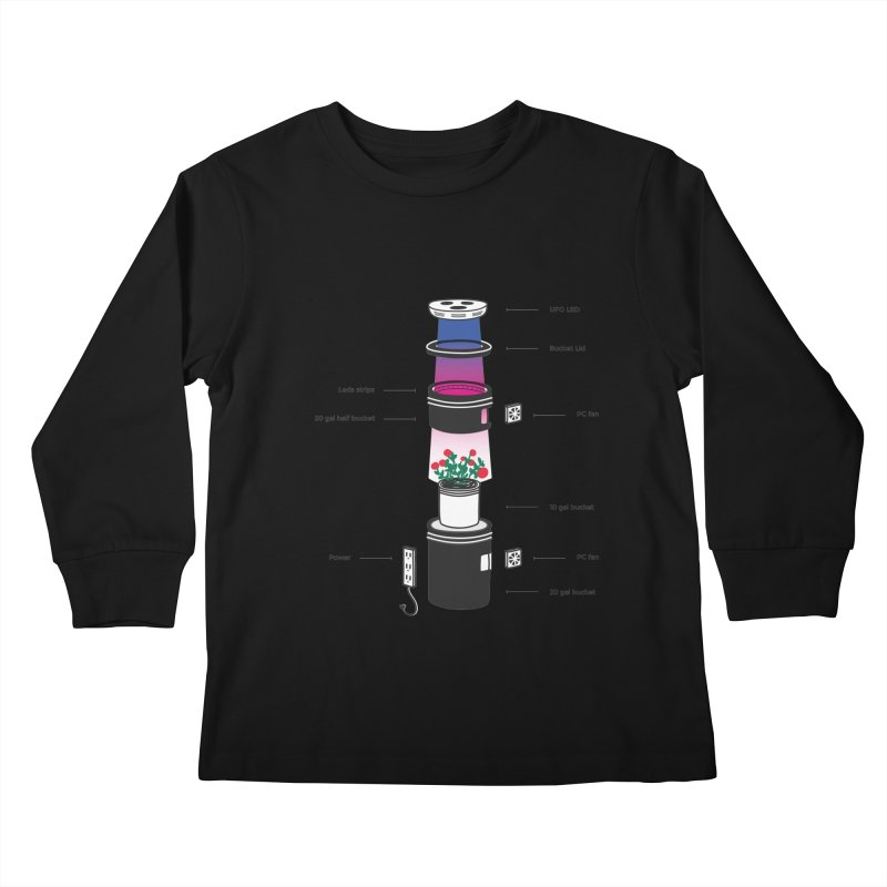 Anatomy of a Space Bucket - no title Kids Longsleeve T-Shirt by spacebuckets's Artist Shop