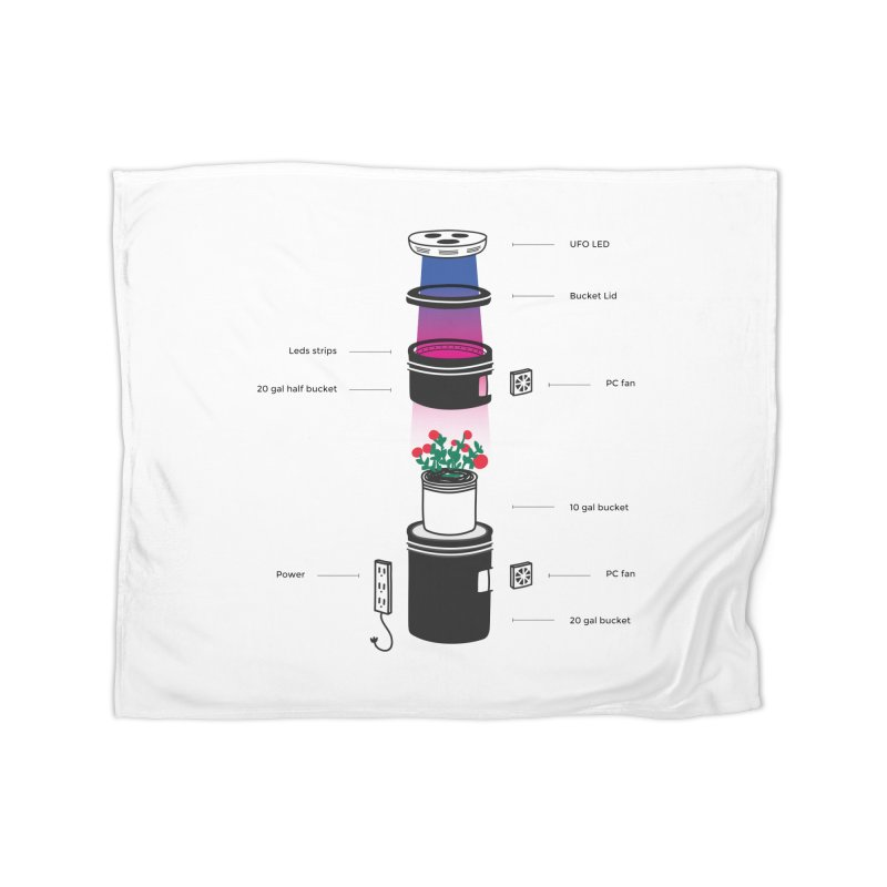Anatomy of a Space Bucket - no title Home Fleece Blanket Blanket by spacebuckets's Artist Shop