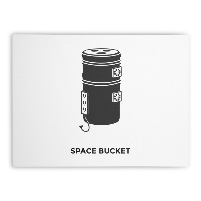 Space Bucket - Original sm Home Stretched Canvas by spacebuckets's Artist Shop