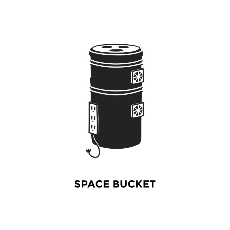 Space Bucket - Original sm Home Framed Fine Art Print by spacebuckets's Artist Shop