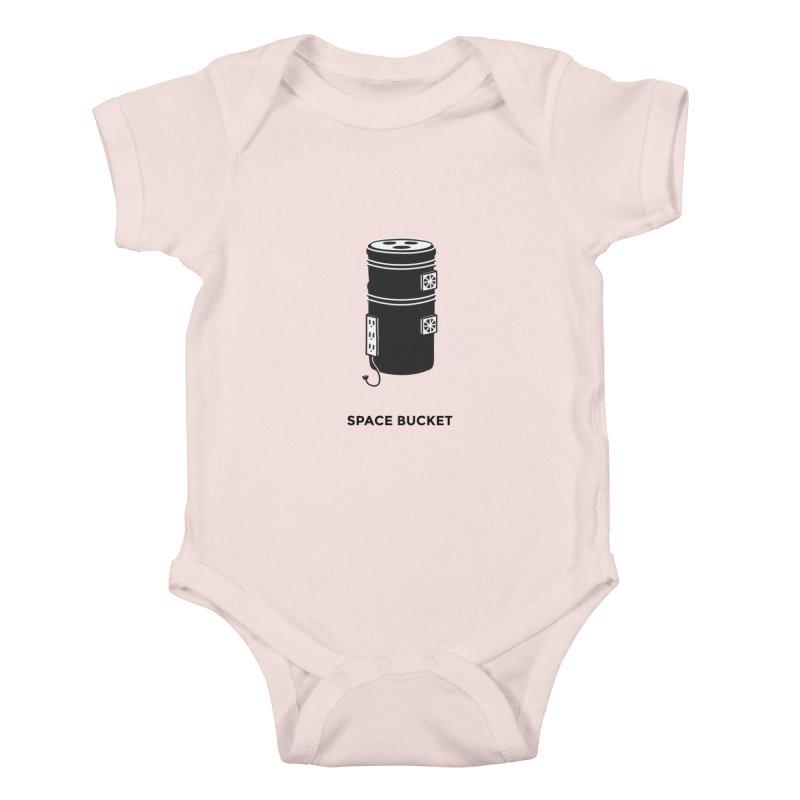 Space Bucket - Original sm Kids Baby Bodysuit by spacebuckets's Artist Shop