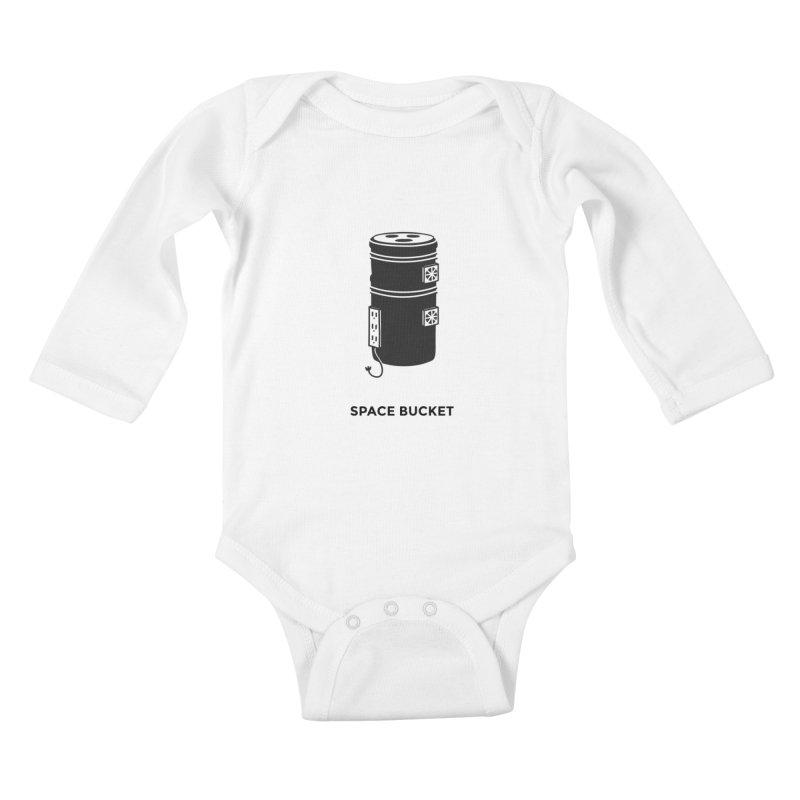 Space Bucket - Original sm Kids Baby Longsleeve Bodysuit by spacebuckets's Artist Shop