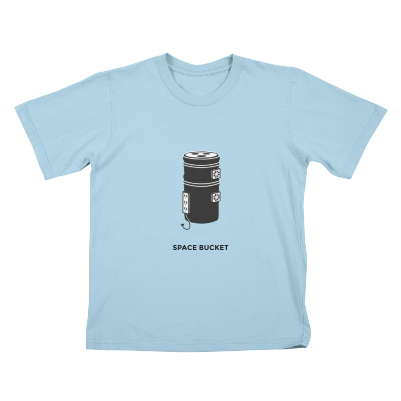 Space Bucket - Original sm Kids T-Shirt by spacebuckets's Artist Shop