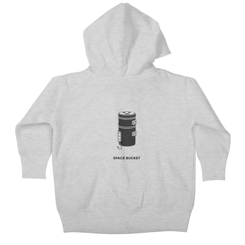 Space Bucket - Original sm Kids Baby Zip-Up Hoody by spacebuckets's Artist Shop