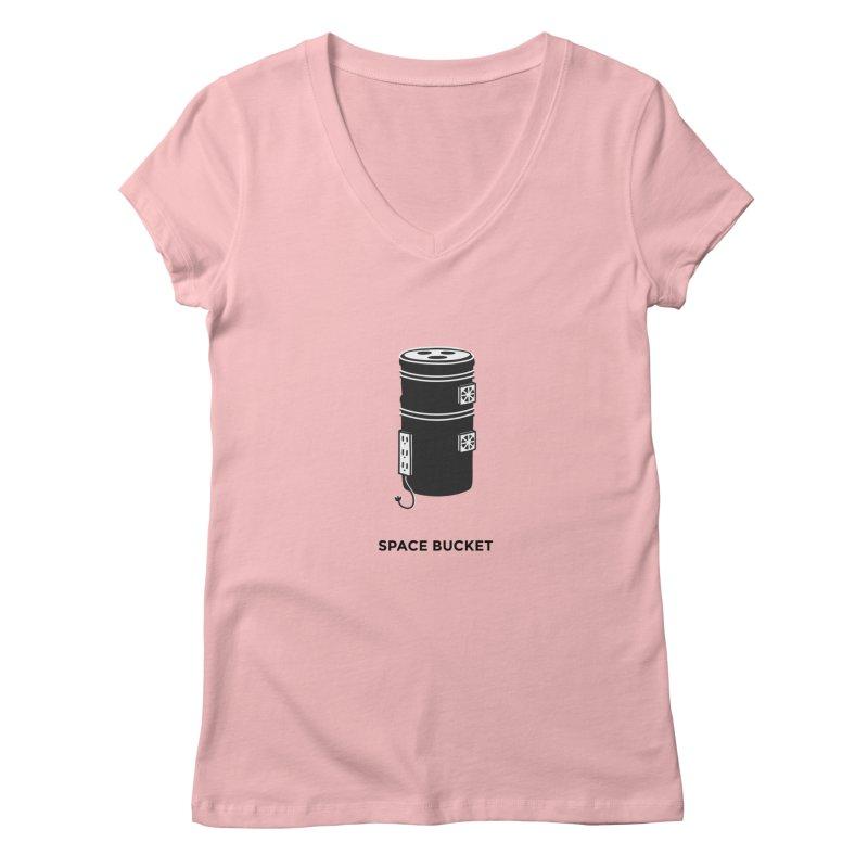 Space Bucket - Original sm Women's V-Neck by spacebuckets's Artist Shop