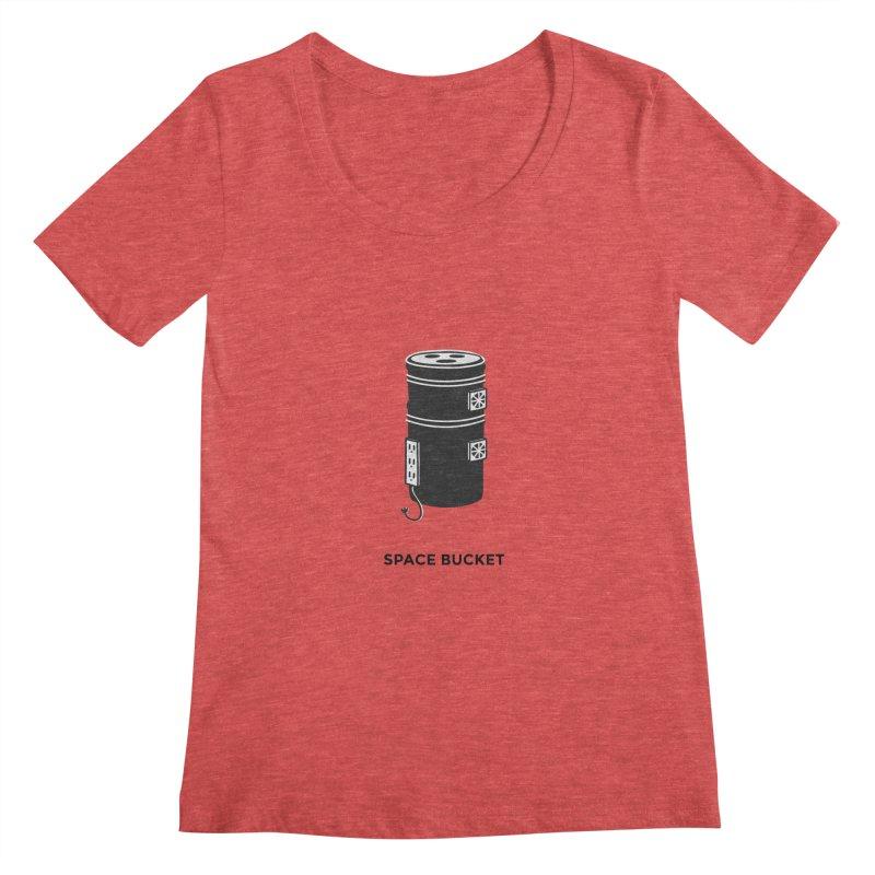 Space Bucket - Original sm Women's Regular Scoop Neck by spacebuckets's Artist Shop