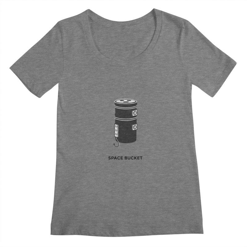 Space Bucket - Original sm Women's Scoopneck by spacebuckets's Artist Shop
