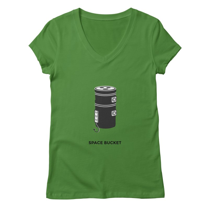 Space Bucket - Original sm Women's V-Neck by spacebuckets's Artist Shop