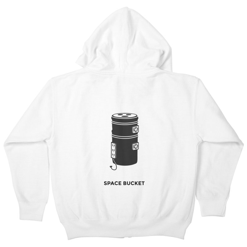 Space Bucket - Original sm Kids Zip-Up Hoody by spacebuckets's Artist Shop