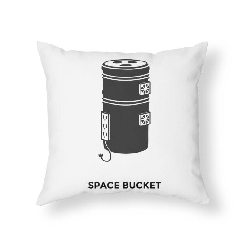 Space Bucket - Original sm Home Throw Pillow by spacebuckets's Artist Shop