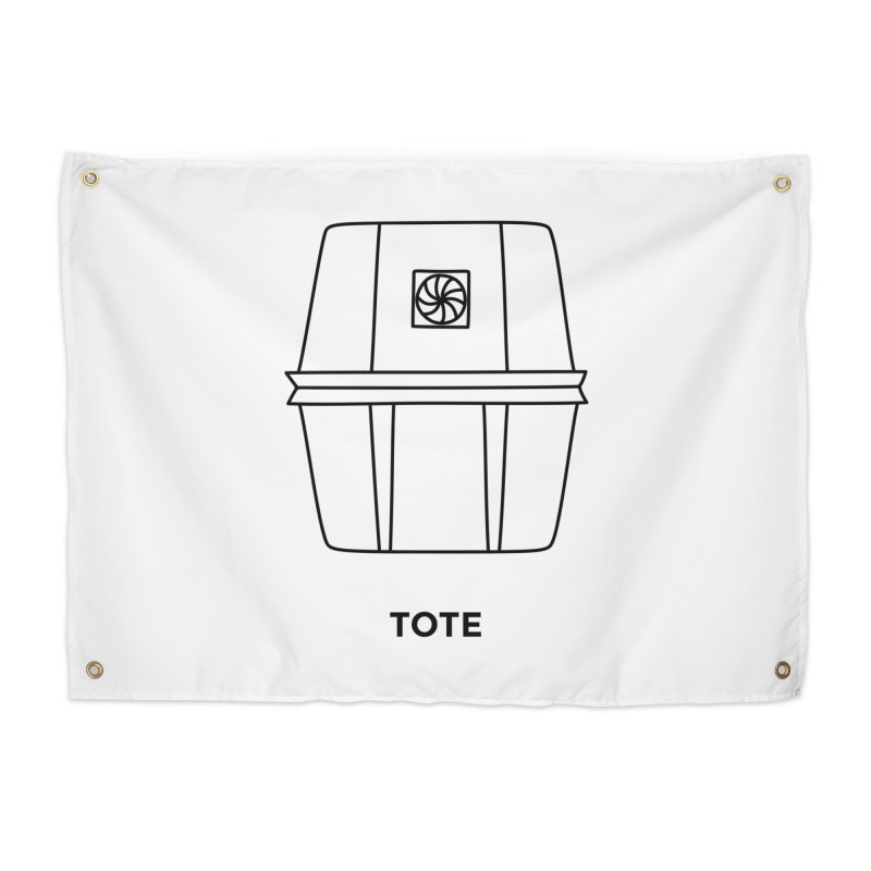 Space Bucket - Tote Home Tapestry by spacebuckets's Artist Shop