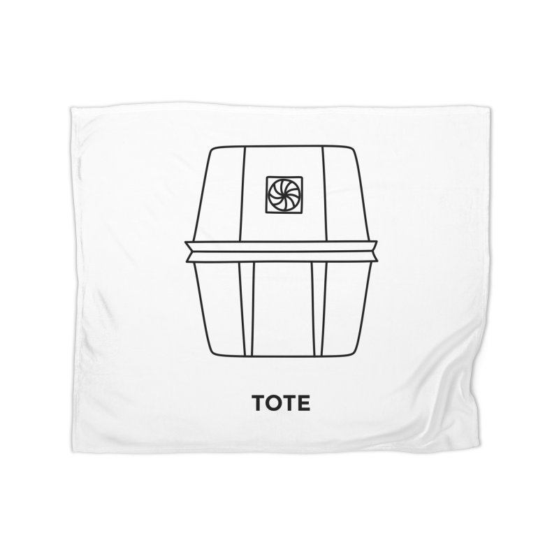 Space Bucket - Tote Home Fleece Blanket by spacebuckets's Artist Shop