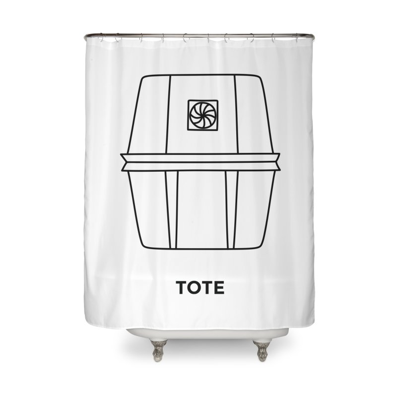 Space Bucket - Tote Home Shower Curtain by spacebuckets's Artist Shop