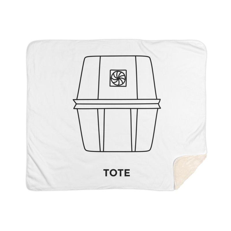 Space Bucket - Tote Home Sherpa Blanket Blanket by spacebuckets's Artist Shop