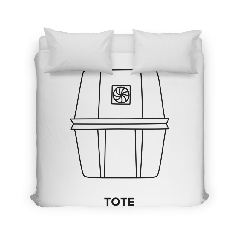 Space Bucket - Tote Home Duvet by spacebuckets's Artist Shop
