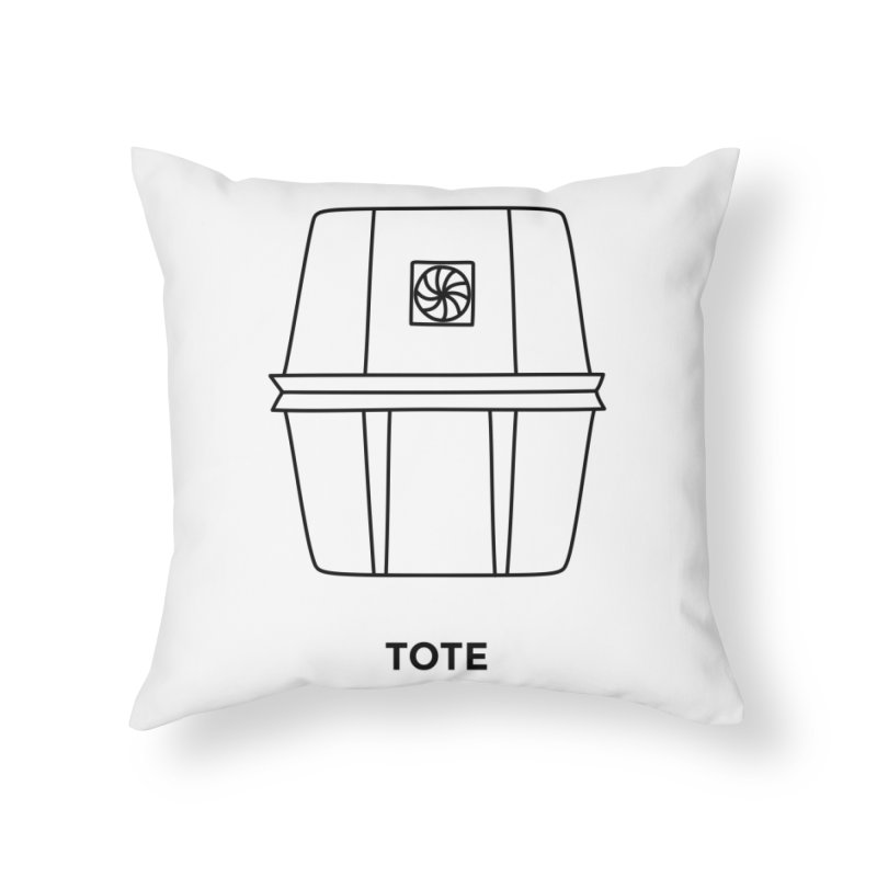 Space Bucket - Tote Home Throw Pillow by spacebuckets's Artist Shop