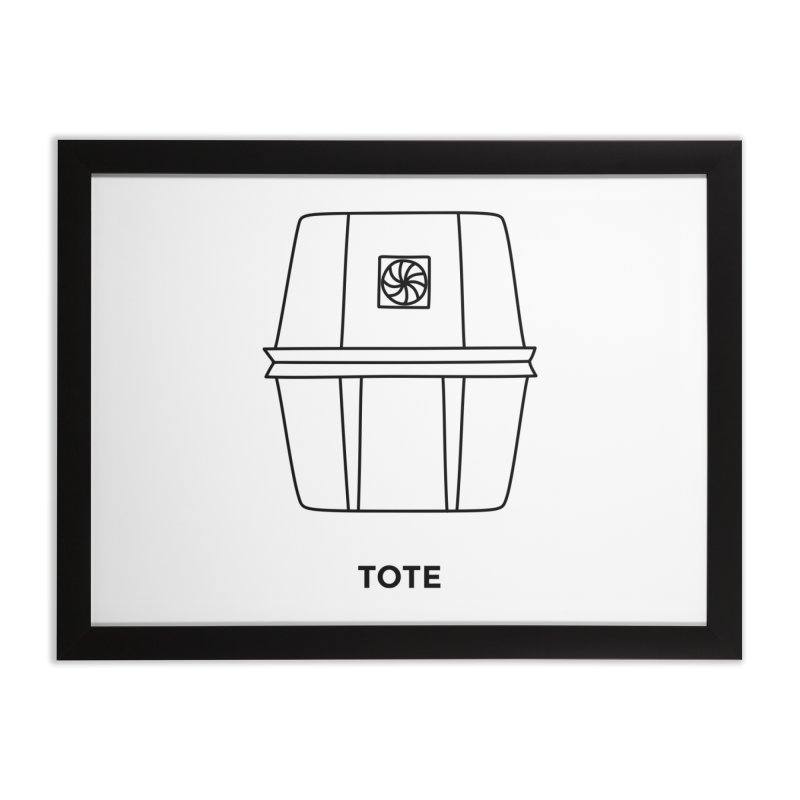 Space Bucket - Tote Home Framed Fine Art Print by spacebuckets's Artist Shop