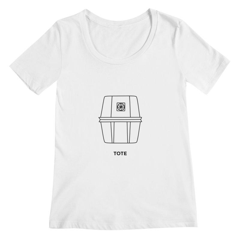Space Bucket - Tote Women's Regular Scoop Neck by spacebuckets's Artist Shop