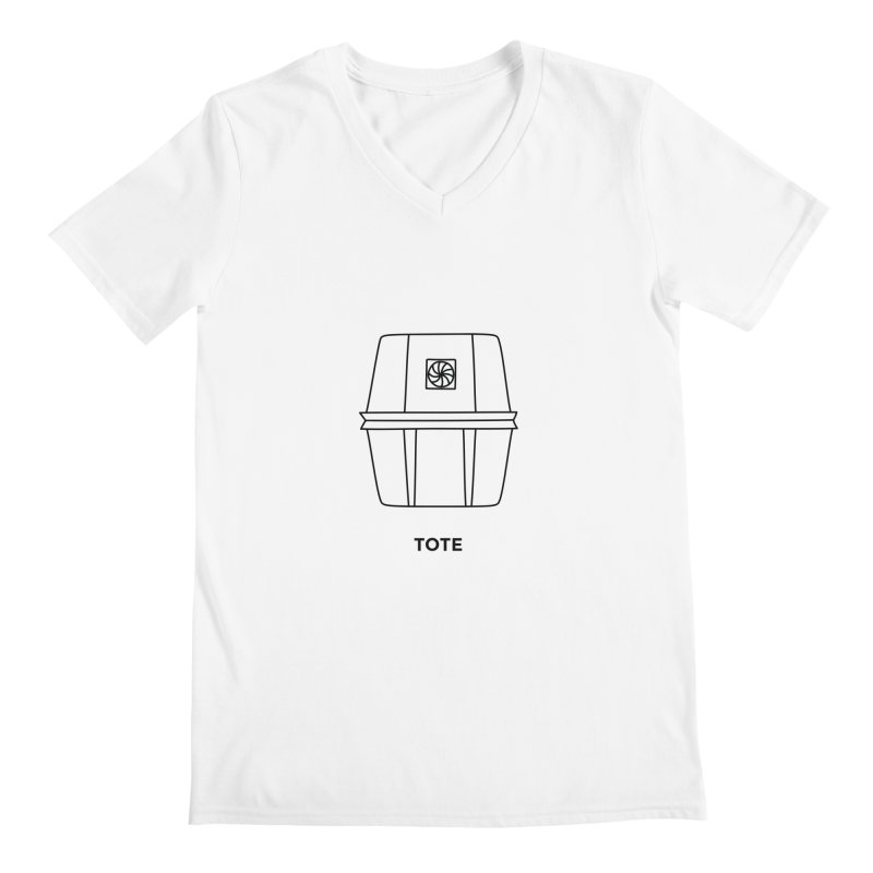 Space Bucket - Tote Men's V-Neck by spacebuckets's Artist Shop